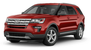 Red 2018 Ford Explorer
