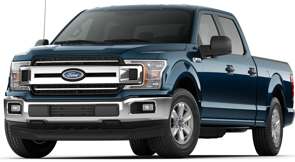 Blue 2018 Ford F-150 Model Image