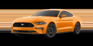 Orange 2018 Ford Mustang