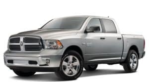 Silver 2018 RAM 1500 compared against the F-150