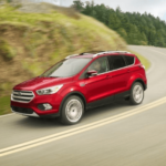 Red Ford Escape after new Ford Lease