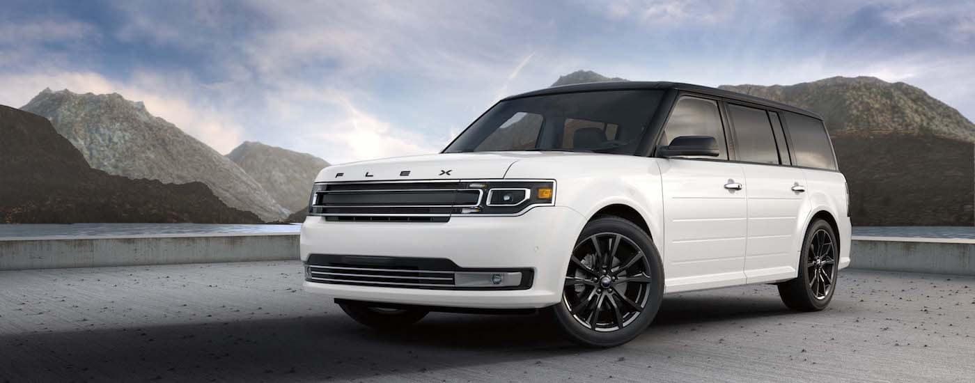 White 2019 Ford Flex Parked