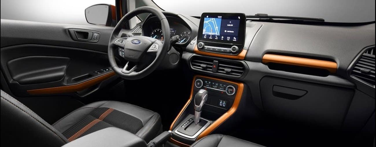 The high tech interior of the 2019 Ford EcoSport