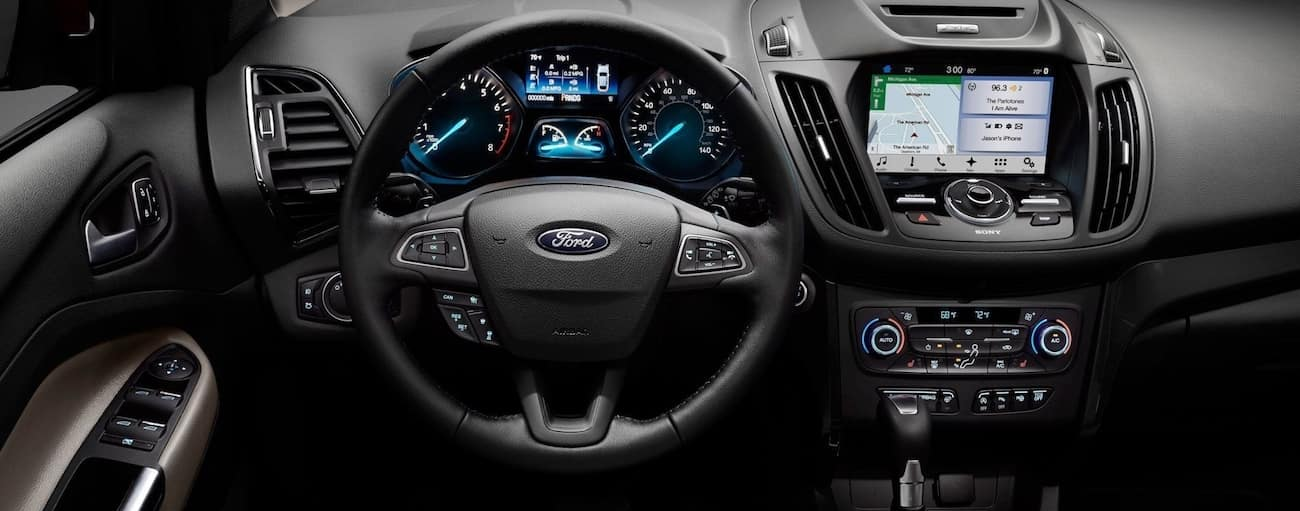 The high tech interior of the 2019 Ford Escape