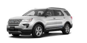 The silver 2019 Ford Explorer from Kings Ford