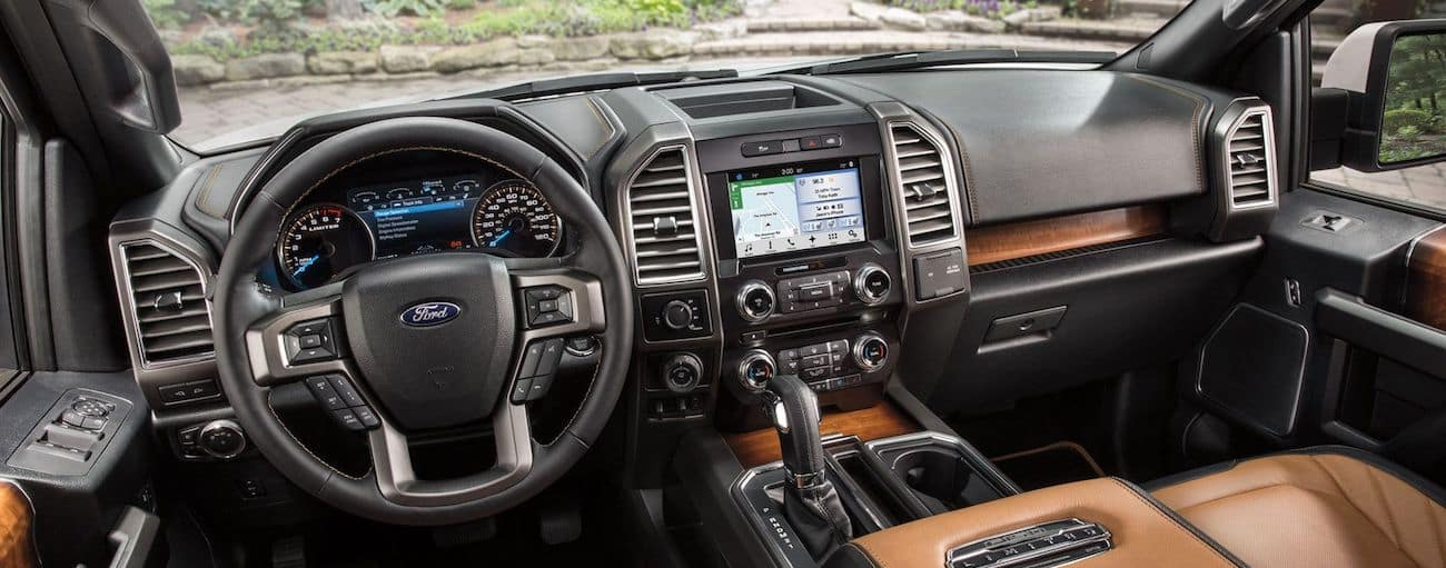 The high tech interior of the 2019 Ford F-150