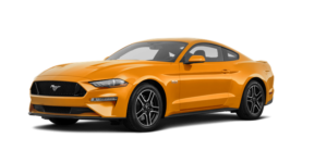 A bright yellow 2019 Ford Mustang from Cincinnati Ohio dealer Kings Ford