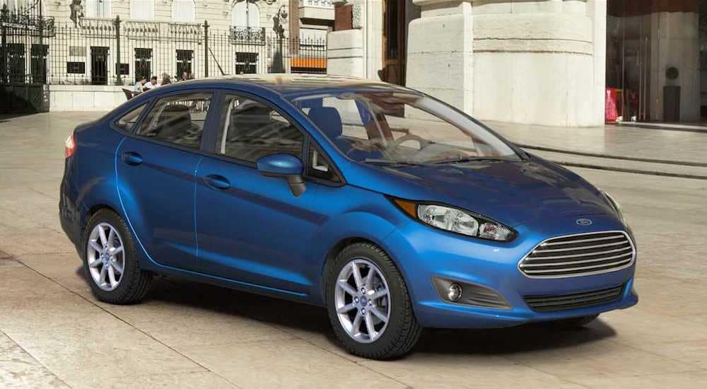 A blue 2019 Ford Fiesta from Kings Ford