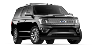 Black 2019 Ford Expedition on white