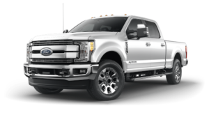 Silver 2019 Ford F-250 on white