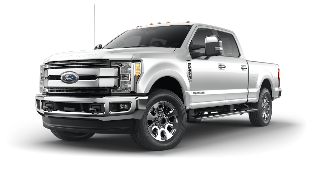 Silver  Ford F  On White