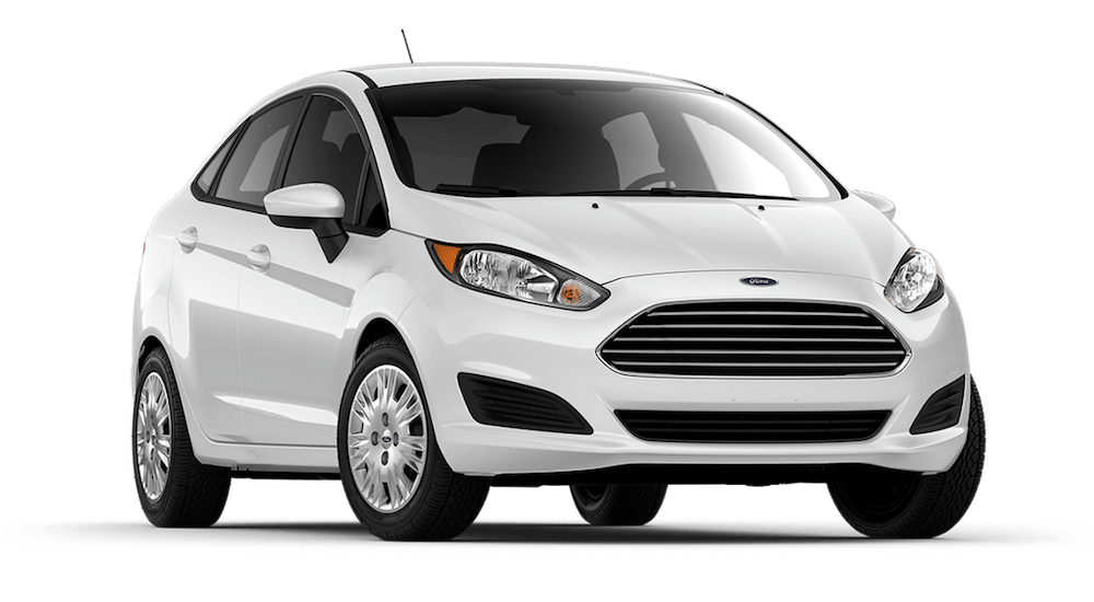 White 2019 Ford Fiesta on white