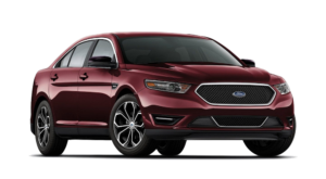 Red 2019 Ford Taurus on white
