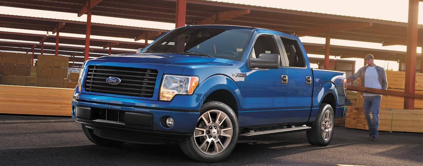A blue used 2014 Ford F-150 from Kings Ford