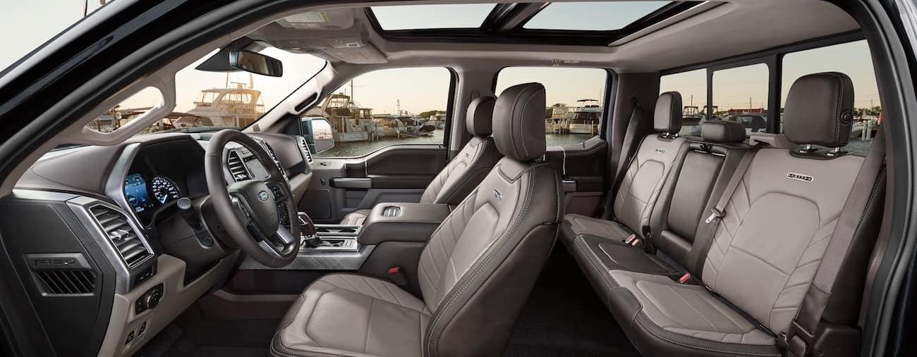The high tech interior of the 2019 Ford F-150 comes out on top in the battle between 2019 Ford F150 vs 2019 GMC Sierra