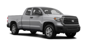 A gray 2019 Toyota Tundra vs the 2019 Ford F-150 in a model shootout