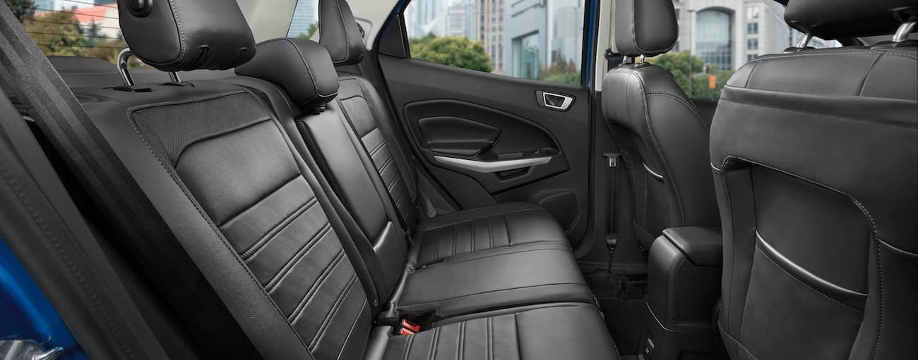 The black backseat of a 2019 EcoSport