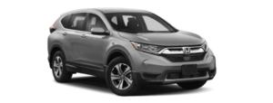 A silver 2019 Honda CR-V is shown from a side angle facing right.
