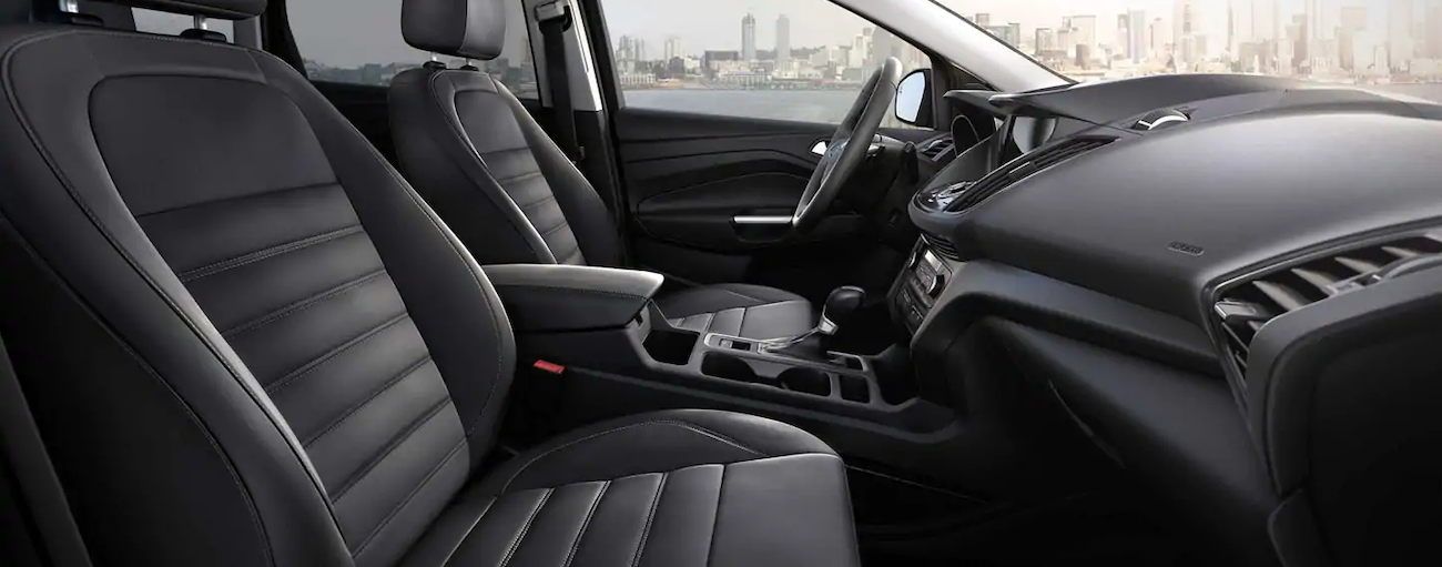 The interior of the 2019 Ford Escape in this image features a charcoal black color.