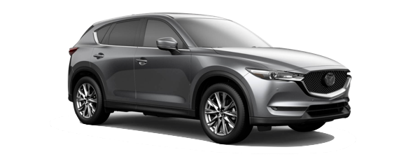 A grey 2019 Mazda CX-5 is facing right.