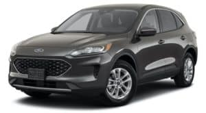A grey 2020 Ford Escape is angled left.