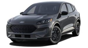 A grey 2020 Ford Escape is facing left.