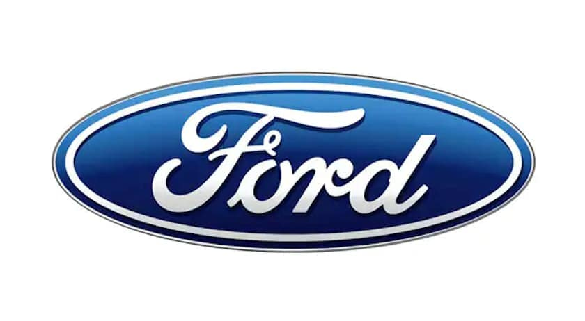The Ford logo is on a white background.