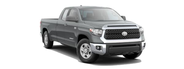 A grey 2020 Toyota Tundra is facing right.