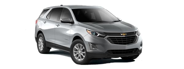 A grey 2020 Chevy Equinox is facing right.