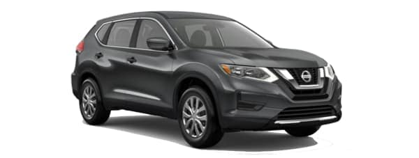 A grey 2020 Nissan Rogue is facing right.