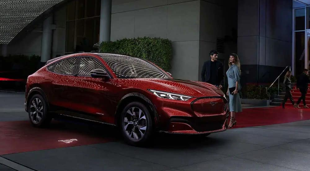 looking at the 2021 mustang mach-e vs 2020 escape hybrid