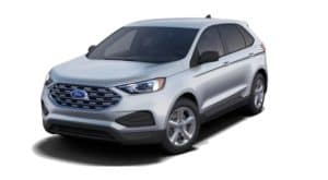 A silver 2020 Ford Edge is angled left on a white background.