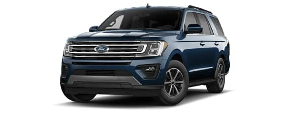 A blue 2020 Ford Expedition is angled left.