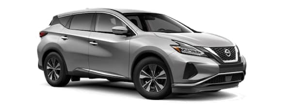 A silver 2020 Nissan Murano is angled right on a white background.