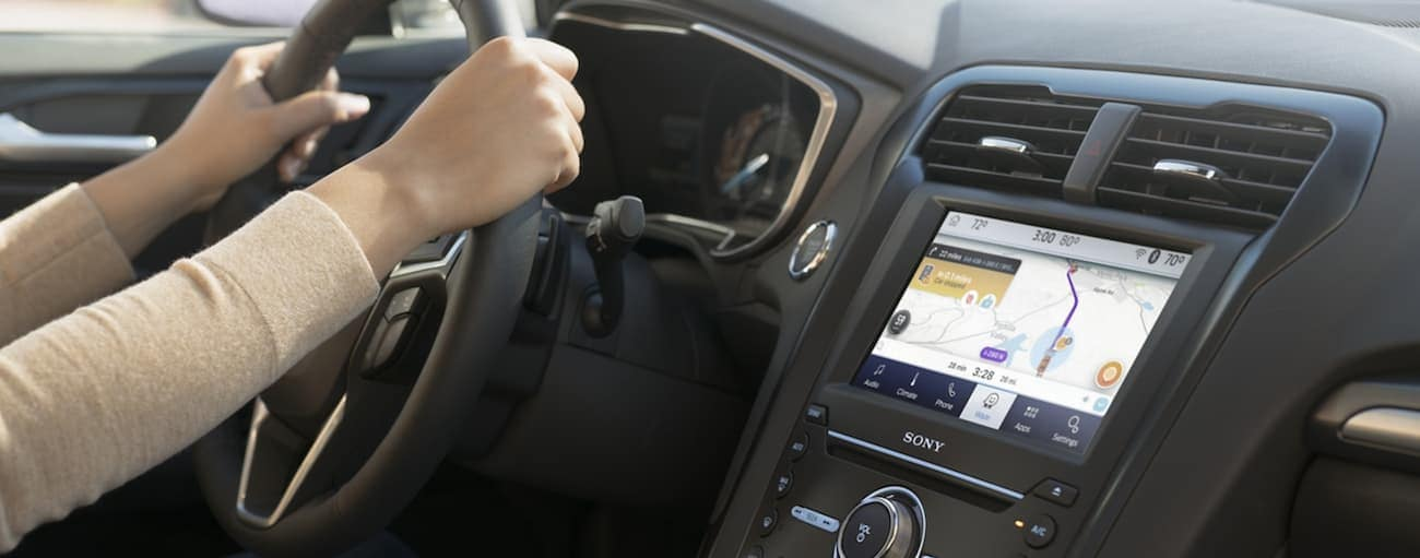 The dashboard of a 2020 Ford Fusion is shown.