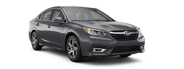A grey 2020 Subaru Legacy is angled right.