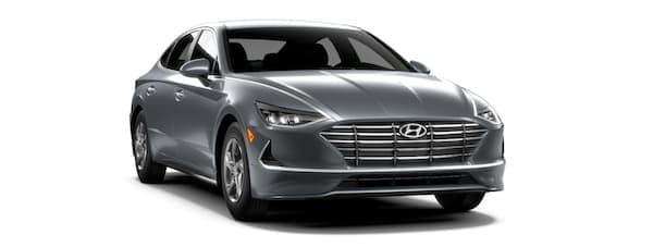 A grey 2020 Hyundai Sonata is facing right.