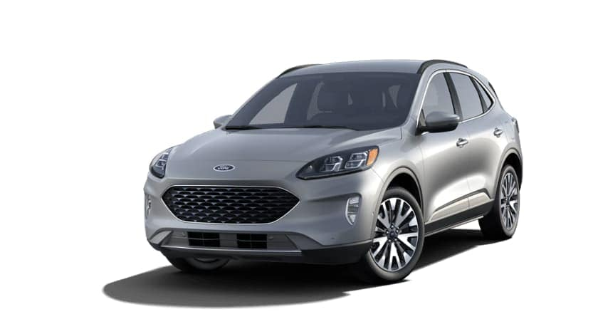 A grey 2021 Ford Escape is angled left.