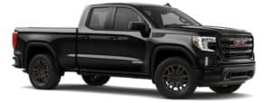 A black 2021 GMC Sierra 1500 is angled right.