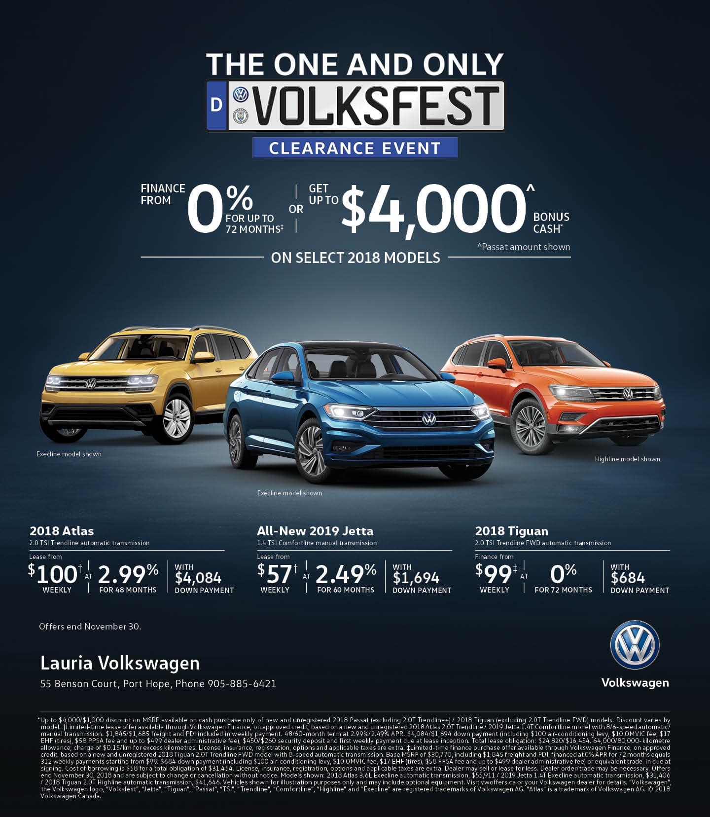 Volksfest VW offers at Lauria Hyundai
