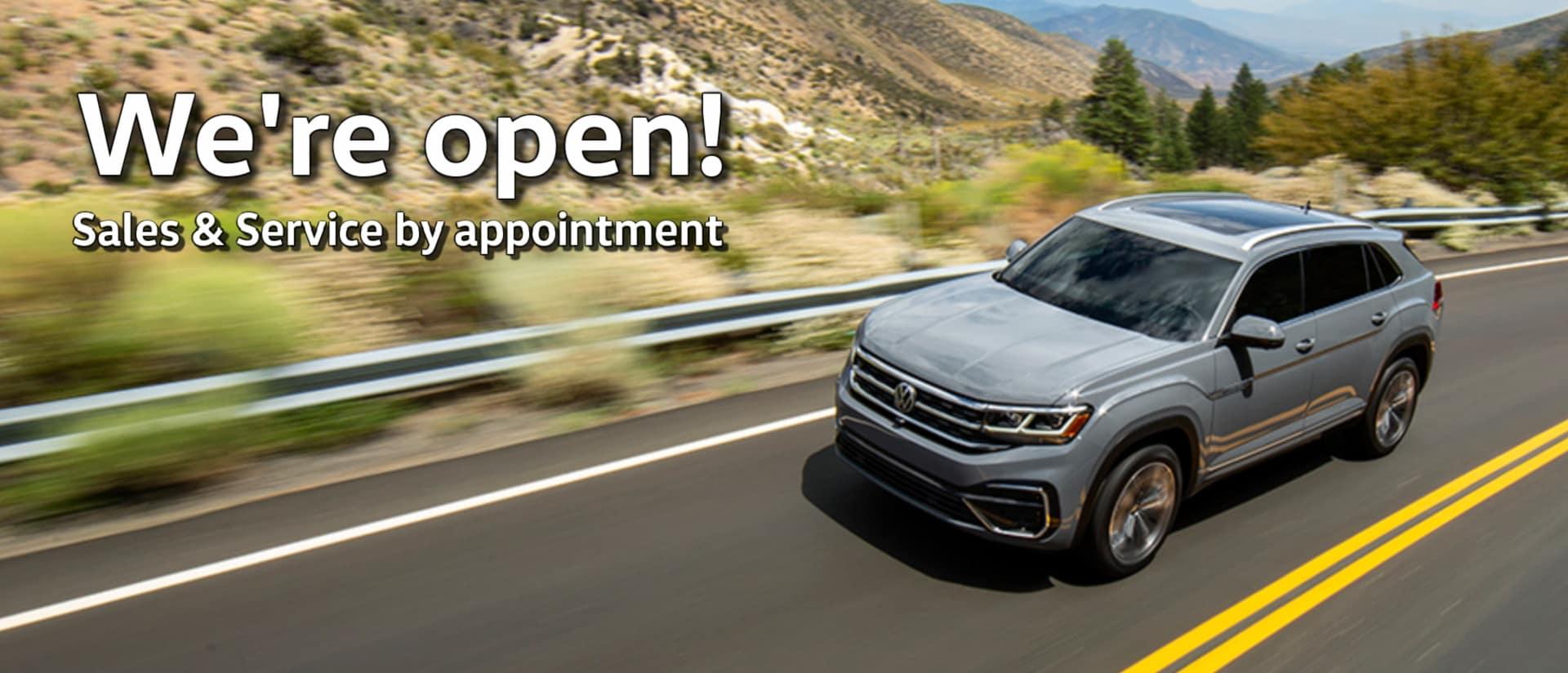 We're Open VW