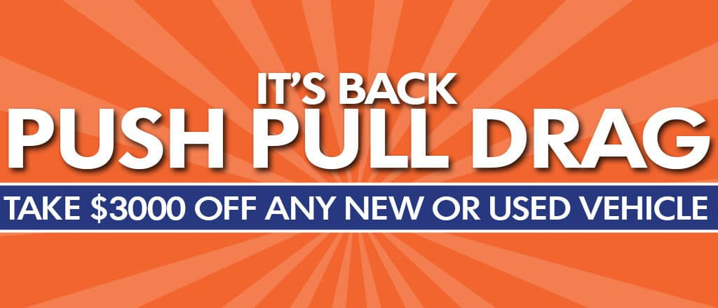 Now arriving at Maple Ridge Volkswagen is the Push Pull Drag Sale but only for a limited time!