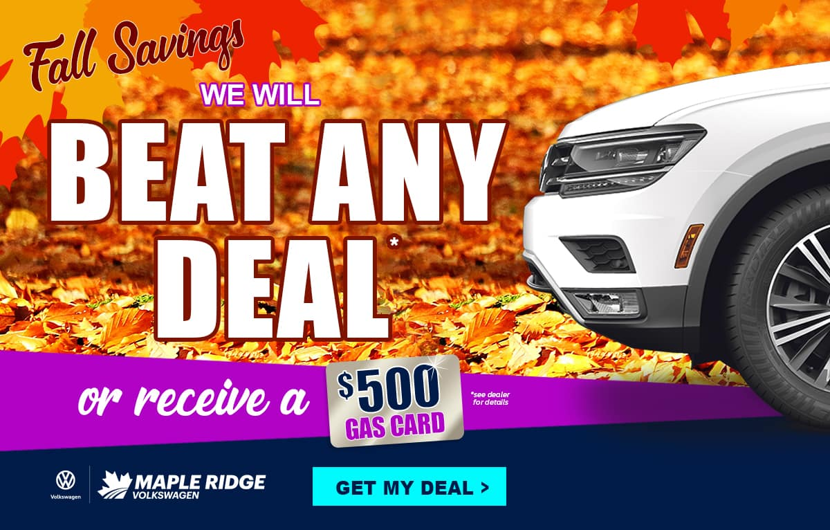 We will beat any other Volkswagen Deal in BC!