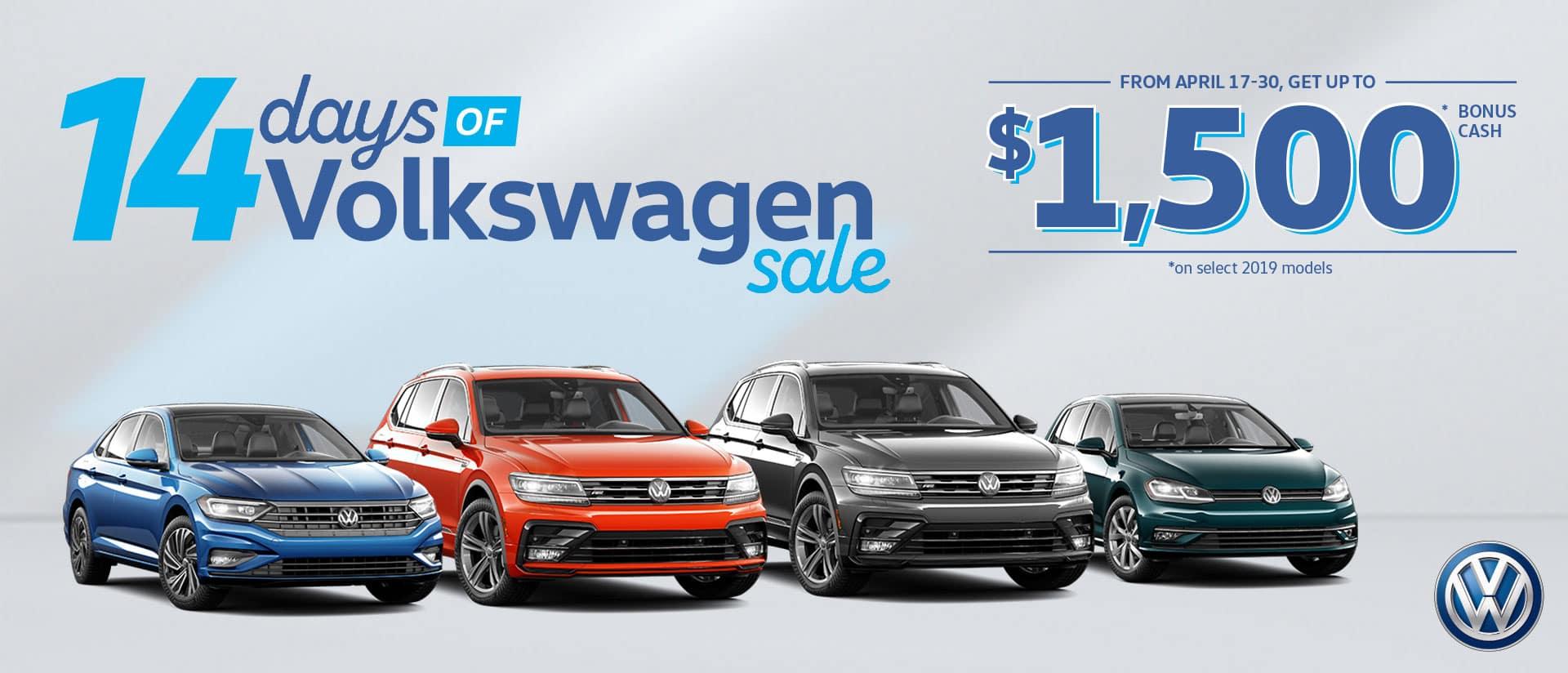 The 14 Days of Volkswagen Event is on now at Maple Ridge Volkswagen!