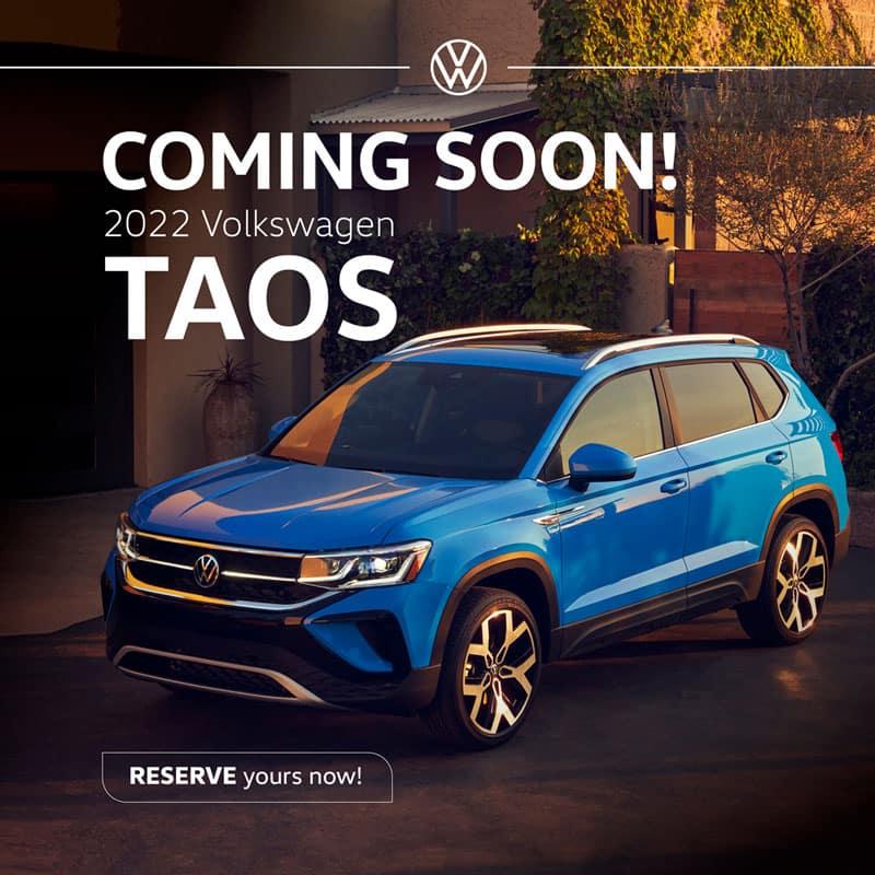 Coming Soon 2022 Volkswagen Taos