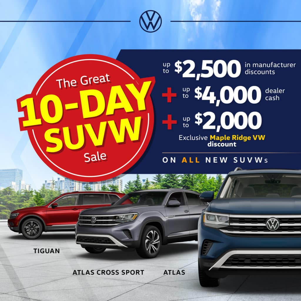 The Great 10-Day SUVW Sale