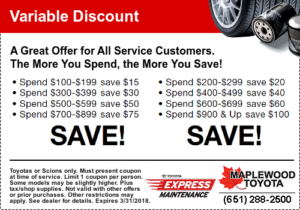 Toyota Service Coupons - Save