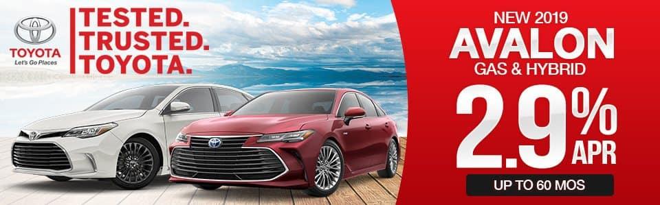 2019 Toyota Avalon & Avalon Hybrid Finance Special