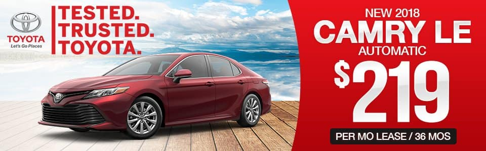 New 2018 Toyota Camry Lease Special