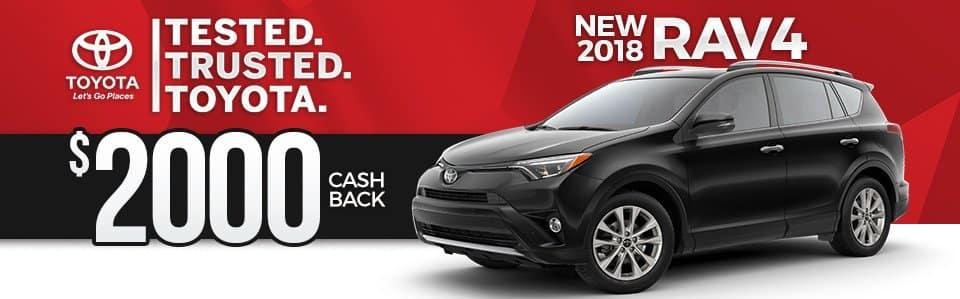 2018 Toyota RAV4 Cash Back Special